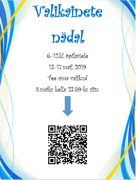 valikainete nädal mai 2019